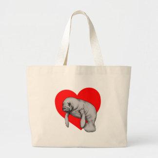 Grand Tote Bag art de lamantin