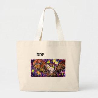 Grand Tote Bag art de vol de hibou
