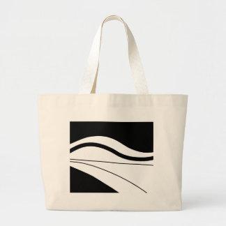 Grand Tote Bag Art décoratif blanc et noir