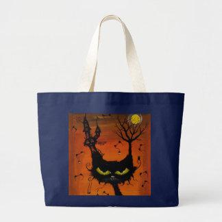 Grand Tote Bag Auberge grand fourre-tout de chat noir