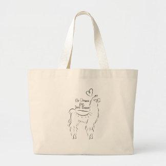 Grand Tote Bag Aucun drame pour ce lama