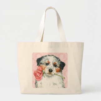 Grand Tote Bag Australien de rose de Valentine