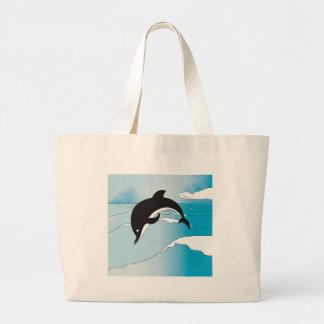 Grand Tote Bag Bain avec des dauphins
