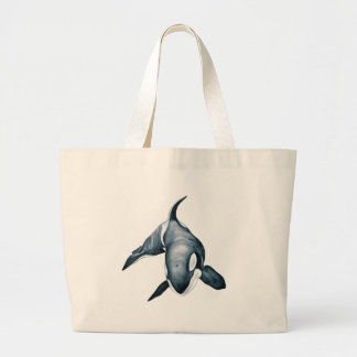 Grand Tote Bag Baleine solitaire d'orque