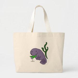 Grand Tote Bag Bande dessinée potable de margarita de lamantin