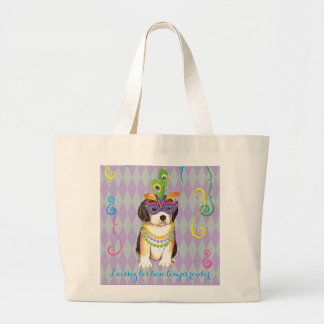 Grand Tote Bag Beagle de mardi gras