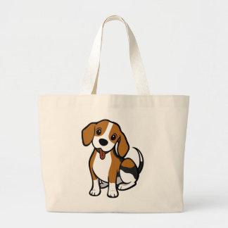 Grand Tote Bag Beagles d'amour de bande dessinée de chiot de
