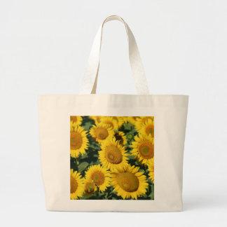 Grand Tote Bag Beau champ des tournesols