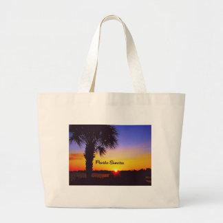 Grand Tote Bag Beau lever de soleil de la Floride