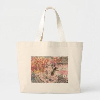 Grand Tote Bag Belle copie Girly d'art de reine des abeilles