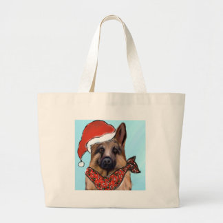 Grand Tote Bag Berger allemand Père Noël