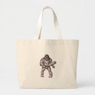 Grand Tote Bag Bigfoot tenant le tatouage de position de club