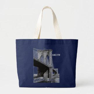 Grand Tote Bag Bord de mer 1896 de pont de Brooklyn