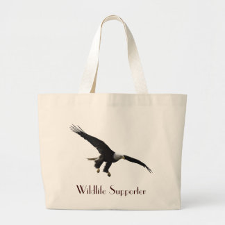 Grand Tote Bag Cadeau de Birdlover de faune d'Eagle chauve