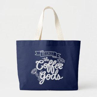 Grand Tote Bag Café Gods_JUMBO_BLU de respect