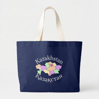 Grand Tote Bag Carte de Kazakhstan