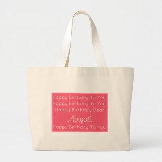 Grand Tote Bag Chanson rose de joyeux anniversaire personnalisée