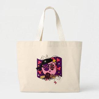 Grand Tote Bag Chapardage dans le rose
