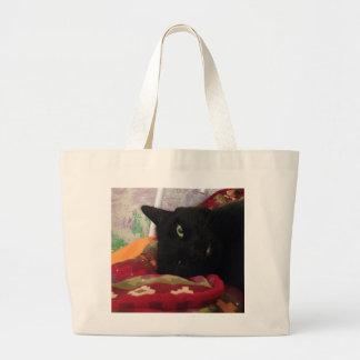 Grand Tote Bag Chat noir Fourre-tout
