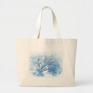 Grand Tote Bag Chêne bleu du sud Toile