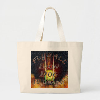 Grand Tote Bag Chien de fer de Flamz Flyball - 10 ans de