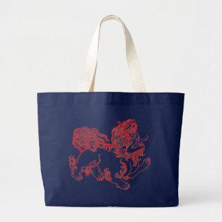 Grand Tote Bag Chien de Fu, chien de Foo