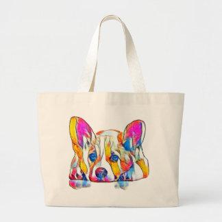 Grand Tote Bag Chiot coloré