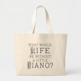 Grand Tote Bag Citation drôle de musique de piano