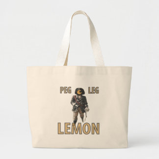 "Grand Tote Bag Citron de ""jambe de cheville"" de pirate"