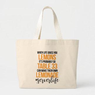 Grand Tote Bag Citrons à la limonade