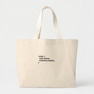 Grand Tote Bag Classe du codeur CSS de Ninja
