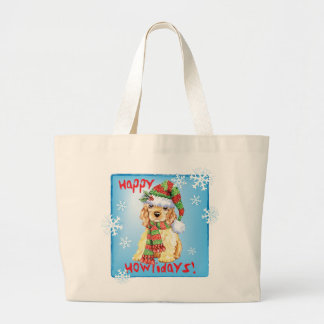 Grand Tote Bag Cocker heureux de Howliday