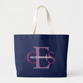 Grand Tote Bag Conception anglaise de monogramme de cocker