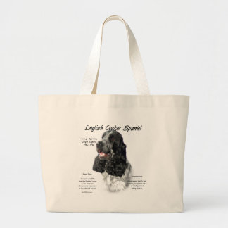 Grand Tote Bag Conception anglaise d'histoire de cocker (parti)