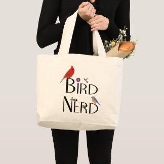 Grand Tote Bag Conception nerd d'oiseau