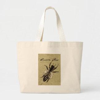Grand Tote Bag Copie noire et blanche vintage d'art de reine des