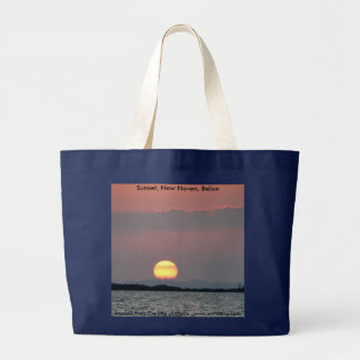 Grand Tote Bag Coucher du soleil, New Haven, Belize