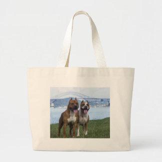 Grand Tote Bag Couples d'amour de pitbull