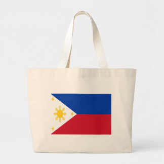 Grand Tote Bag Coût bas ! Drapeau de Philippines
