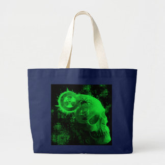 Grand Tote Bag crâne toxique