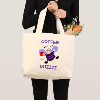 Grand Tote Bag Dames de ronflement d'abeille de bande dessinée