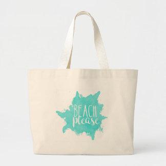 Grand Tote Bag De plage blanc svp