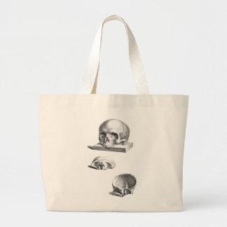 Grand Tote Bag Dessin orthopédique de crâne et d'os
