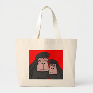 Grand Tote Bag Deux gorilles