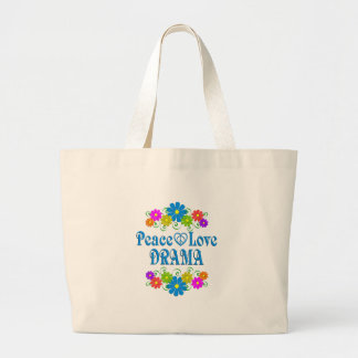 Grand Tote Bag Drame d'amour de paix