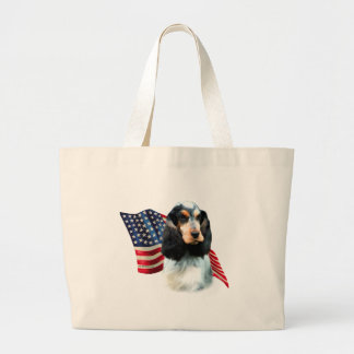 Grand Tote Bag Drapeau anglais de cocker