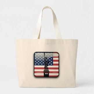 Grand Tote Bag Drapeau brillant des Etats-Unis