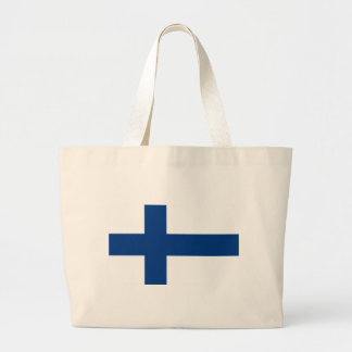 Grand Tote Bag Drapeau de lippu de la Finlande - du Suomen -