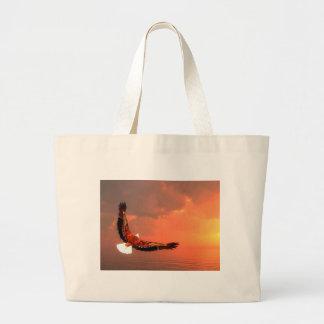 Grand Tote Bag Eagle volant au soleil - 3D rendent