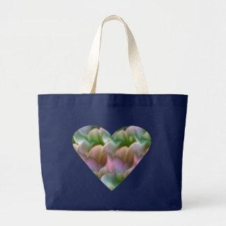 Grand Tote Bag Éléphant floral Fourre-tout de coeur